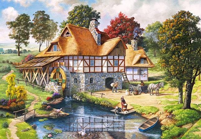 Puzzle Castorland Cabaña del Molino de Agua de 2000 Piezas