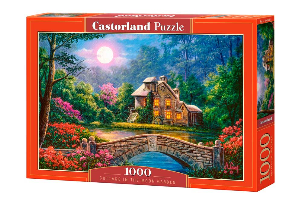 Puzzle Castorland Cabaña en el Jardín de la Luna de 1000 Piezas