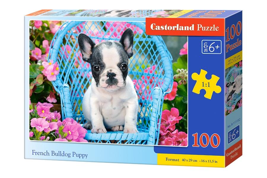 Puzzle Castorland Cachorro de Bulldog Francés de 100 Piezas