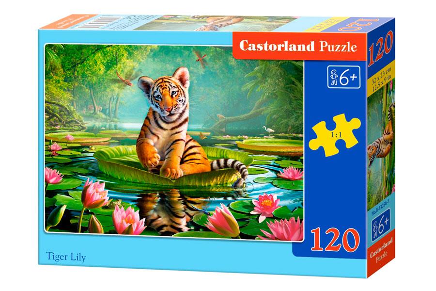 Puzzle Castorland Cachorro de Tigre 120 Piezas