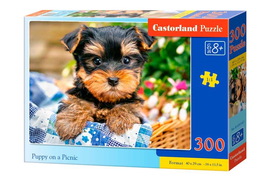 Puzzle Castorland Cachorro en Picnic de 300 Piezas