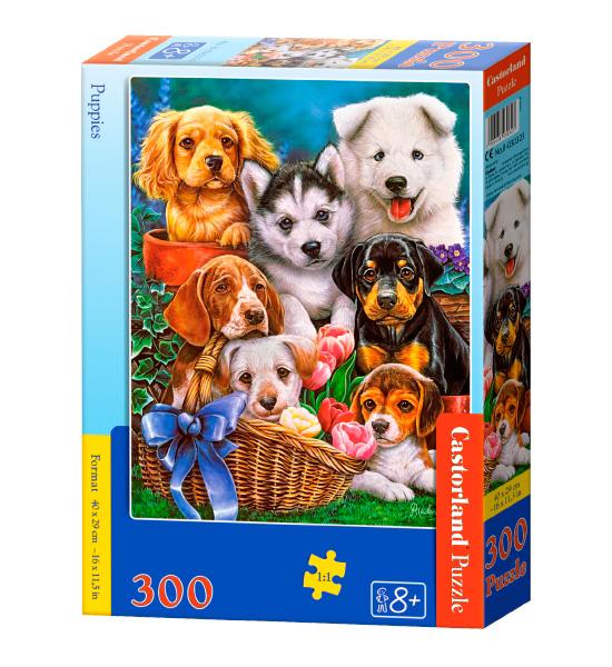 Puzzle Castorland Cachorros de 300 Piezas