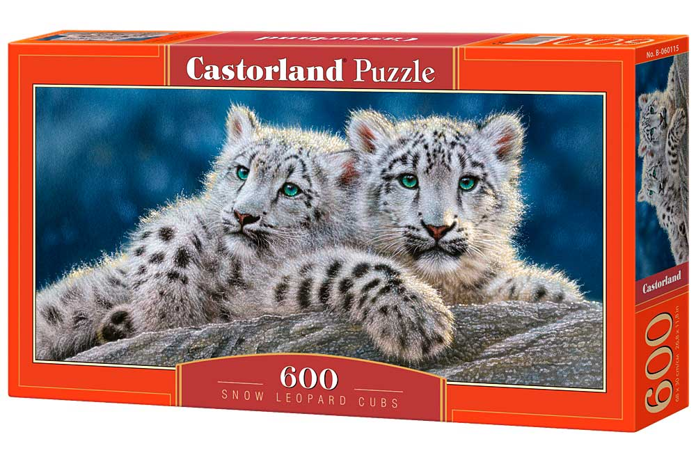 Puzzle Castorland Cachorros de Leopardo de Nieve de 600 Piezas