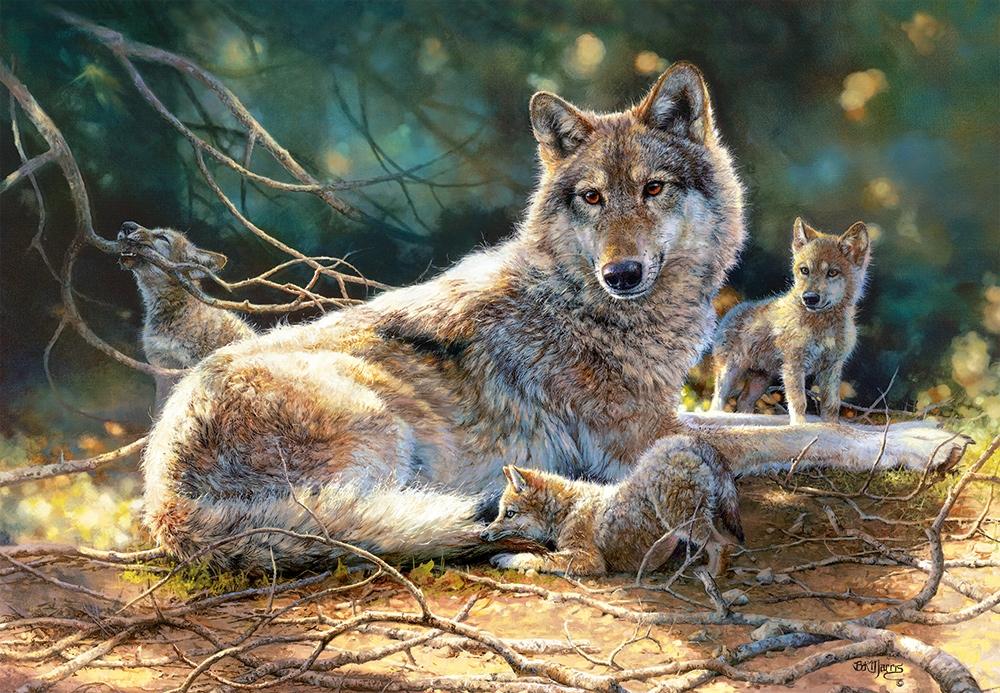 Puzzle Castorland Cachorros de Lobos de 1500 Piezas