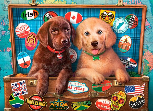 Puzzle Castorland Cachorros Polizones de 300 Piezas