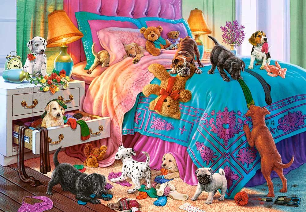 Puzzle Castorland Cachorros Traviesos de 1000 Piezas
