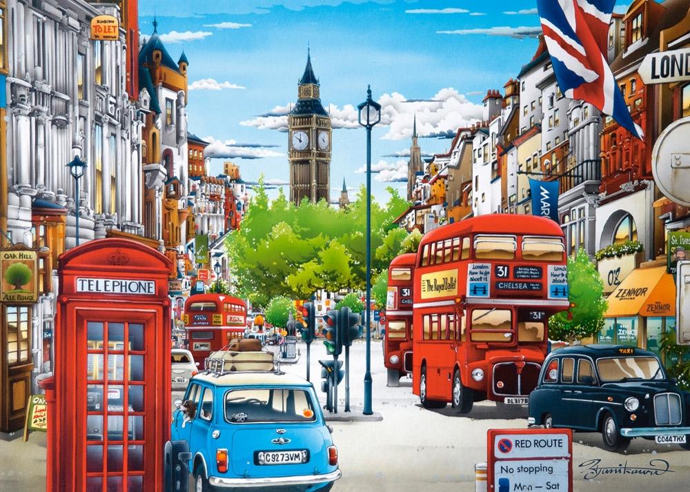 Puzzle Castorland Calle de Londres de 1500 Piezas