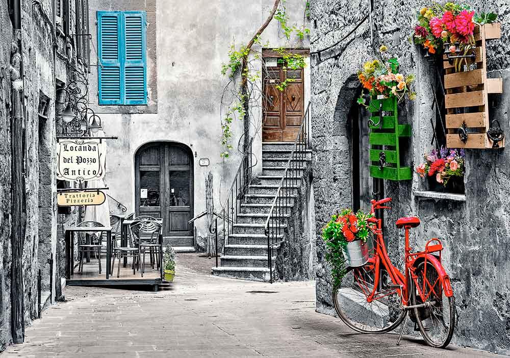 Puzzle Castorland Callejón Encantador Con Bici Roja de 500 Pzs