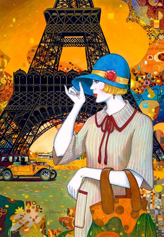 Puzzles Castorland Calles de París de 1000 Piezas
