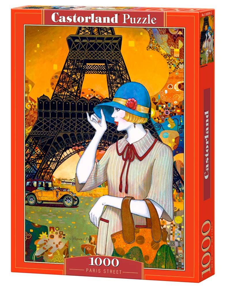 Puzzle Castorland Calles de París de 1000 Piezas