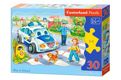 Puzzle Castorland Camino a la Escuela de 30 Piezas
