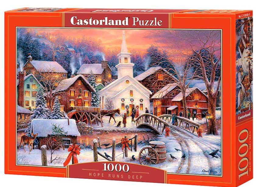 Puzzle Castorland Camino del Espiritu Navideño de 1000 Piezas