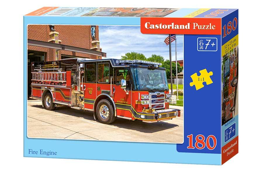 Puzzle Castorland Camión de Bomberos de 180 Piezas