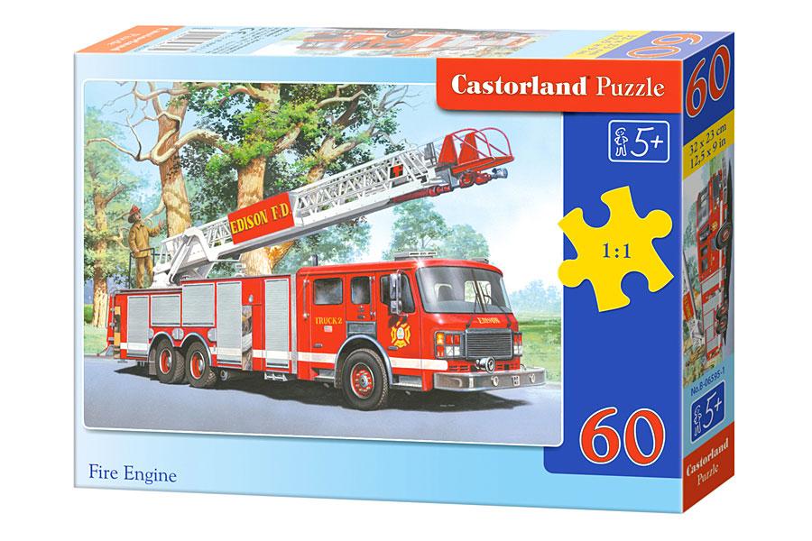 Puzzle Castorland Camión de Bomberos de 60 Piezas