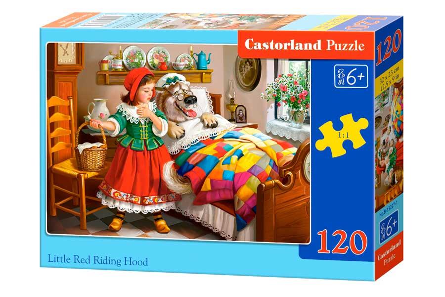 Puzzle Castorland Caperucita Roja y el Lobo de 120 Piezas