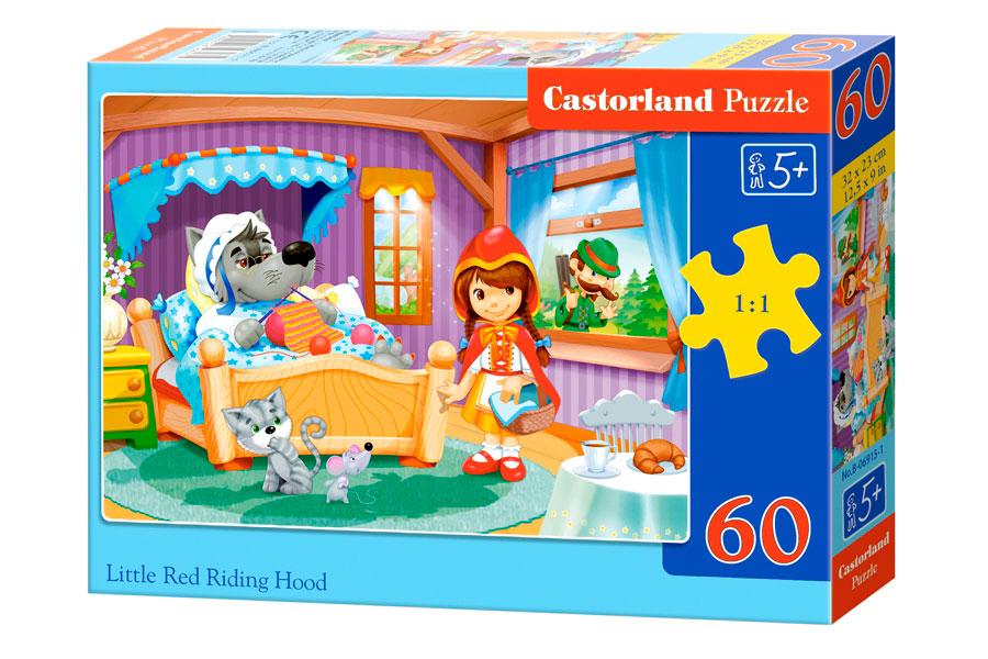 Puzzle Castorland Caperucita Roja y el Lobo de 60 Piezas