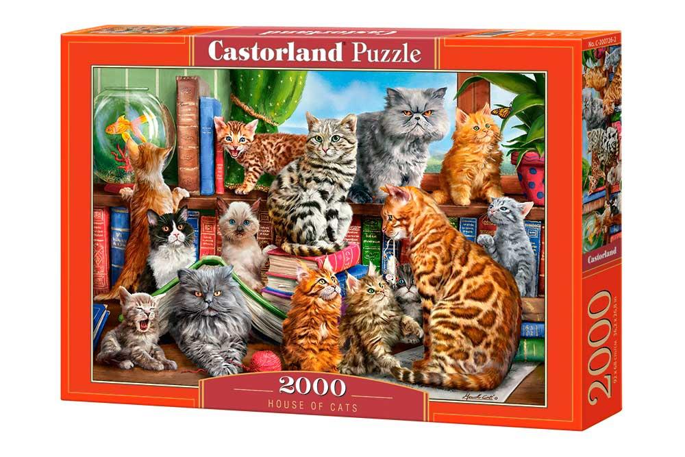 Puzzle Castorland Casa de Gatos de 2000 Piezas