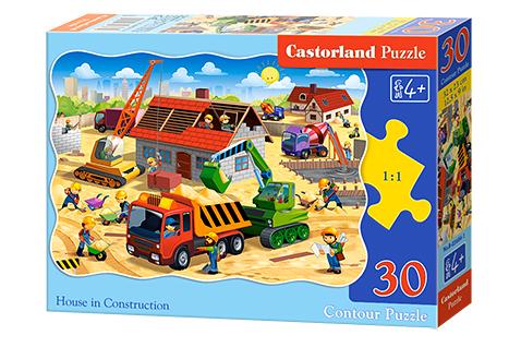 Puzzle Castorland Casa en Construcción de 30 Piezas