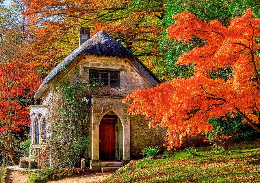 Puzzle Castorland Casa Gótica en Otoño 500 Piezas
