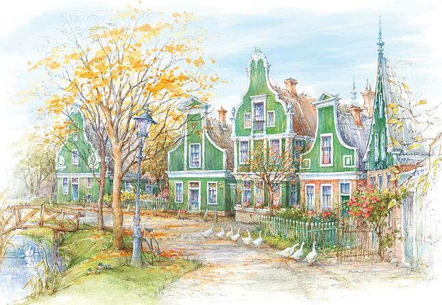 Puzzle Castorland Casa Holandesas de 1500 Piezas