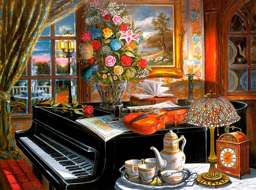Puzzle Castorland Junto al Piano de 2000 Piezas