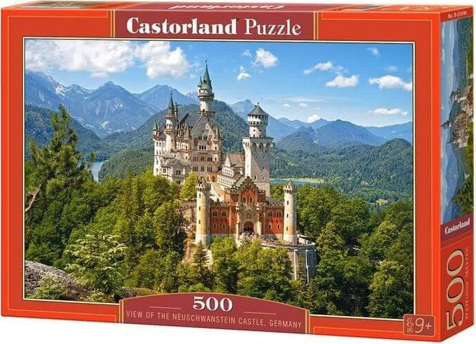 Puzzle Castorland Castillo Neuschwanstein, Selva Negra 500 Pieza