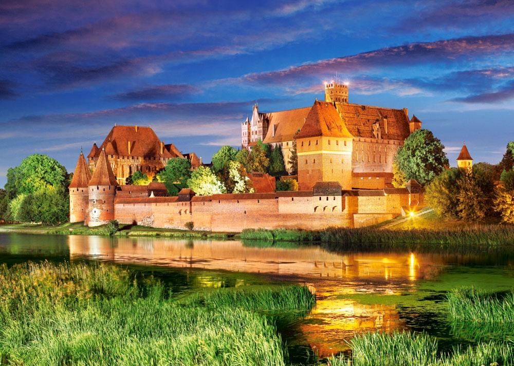 Puzzle Castorland Castillo Malbork de Noche, Polonia de 1000 Pie