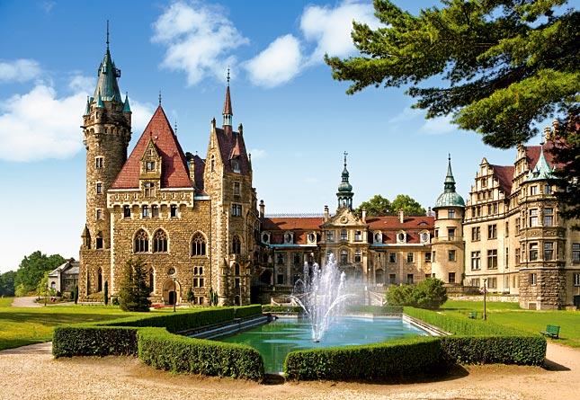 Puzzle Castorland Castillo Moszna, Polonia de 1500 Piezas