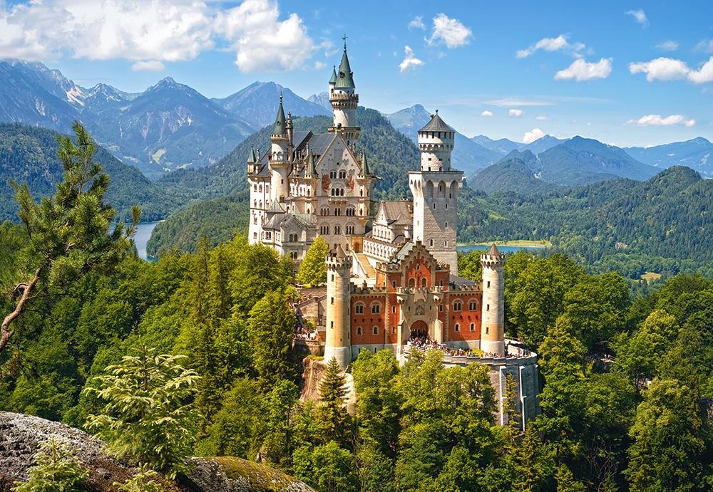 Puzzle Castorland Castillo Neushwanstein, Alemania de 1500 Pieza
