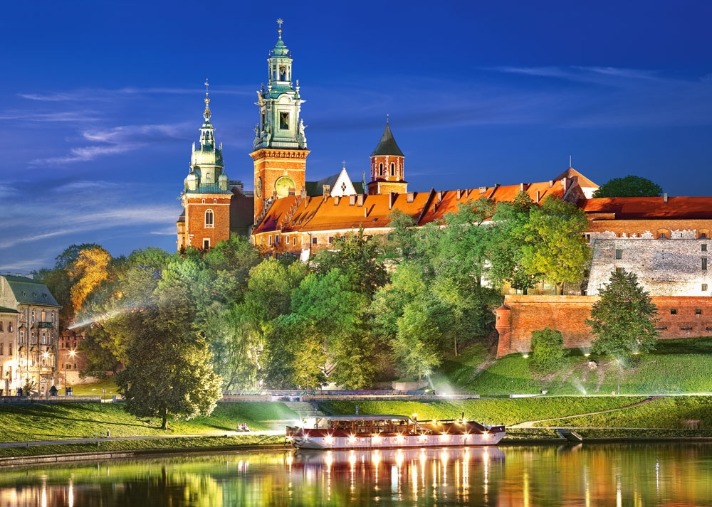 Puzzle Castorland Castillo Wawel de Noche, Polonia de 1000 Pieza