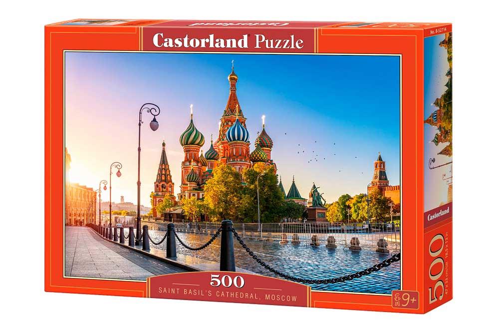 Puzzle Castorland Catedral de San Basilio, Moscú 500 Piezas