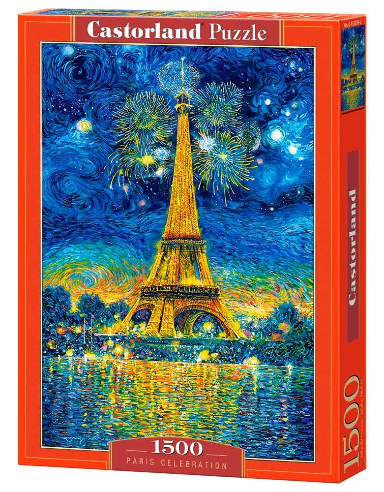 Puzzle Castorland Celebración en París de 1500 Piezas