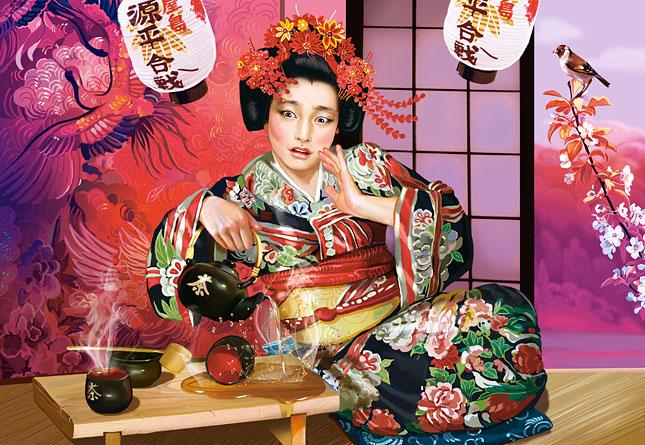 Puzzle Castorland Ceremonia del Té con la Geisha de 1000 Piezas