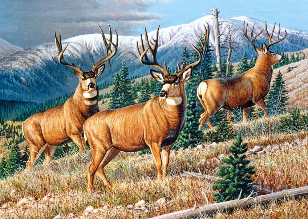 Puzzle Castorland Ciervos Montaña Arriba de 1500 Piezas