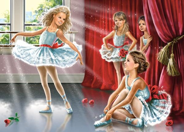 Puzzle Castorland Clase de Ballet de 120 Piezas