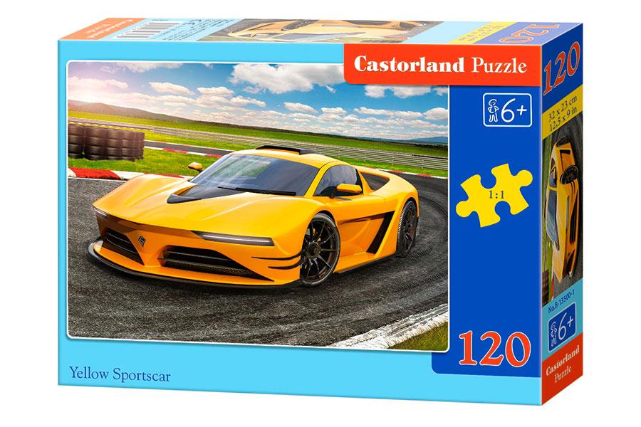 Puzzle Castorland Coche Deportivo Amarillo de 120 Pzs