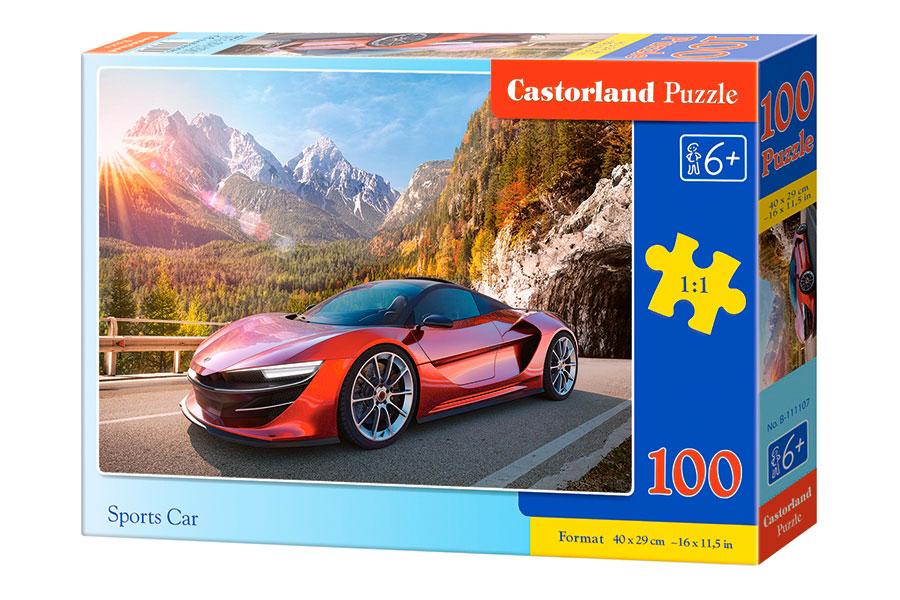 Puzzle Castorland Coche Deportivo de 100 Piezas