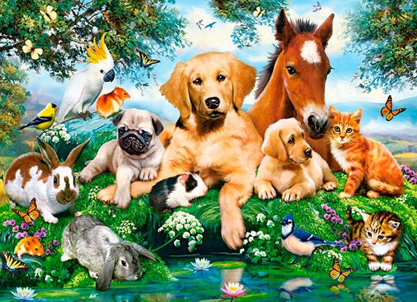 Puzzle Castorland Colegas Animales en Verano de 200 Piezas