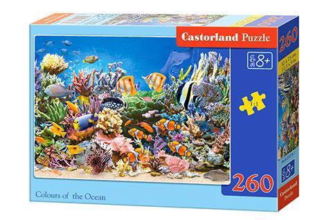 Puzzle Castorland Colores del Océano de 260 Piezas