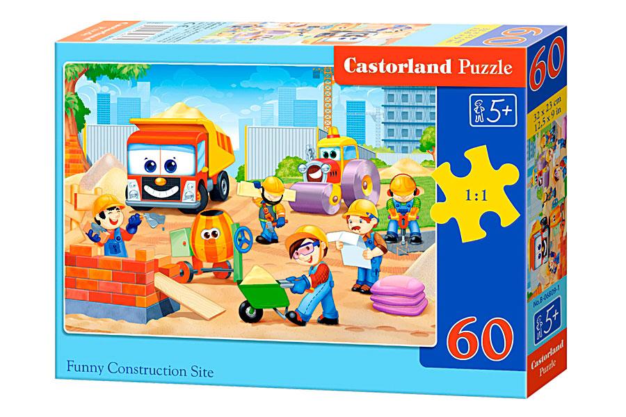 Puzzle Castorland Contrucción Divertida de 60 Piezas