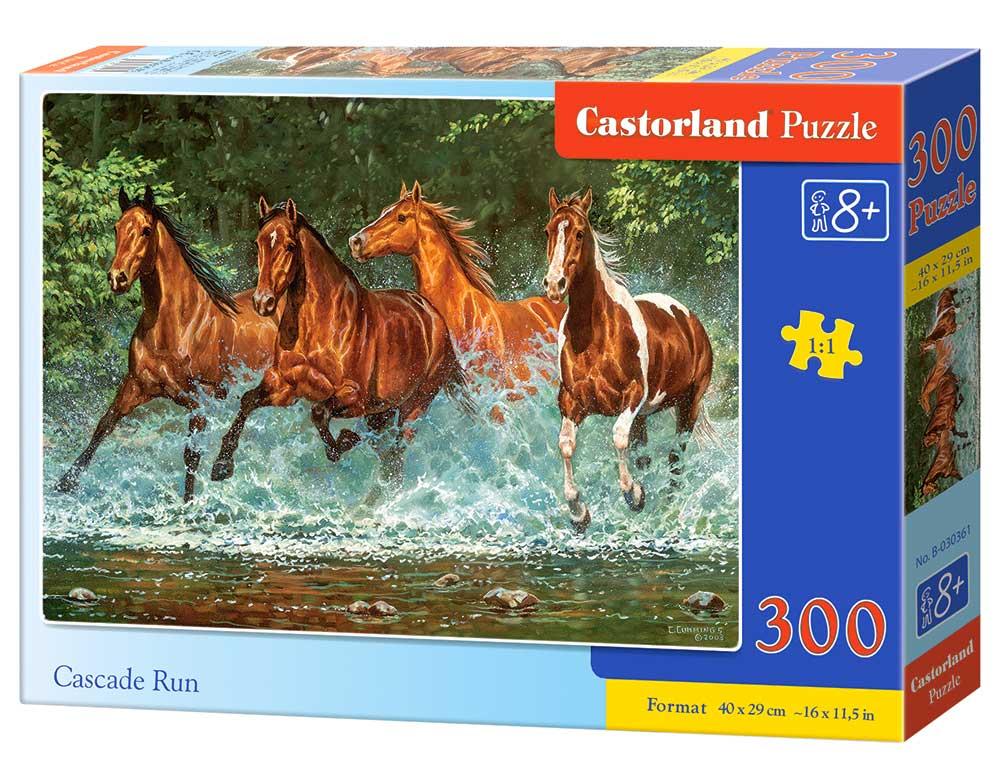 Puzzle Castorland Corriendo en la Cascada de 300 Piezas