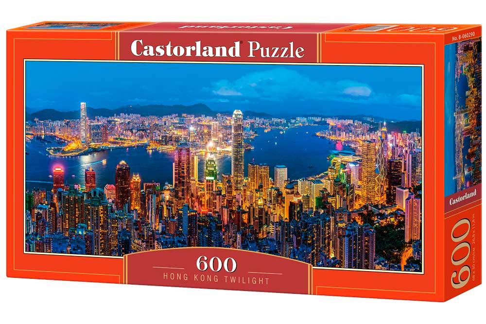 Puzzle Castorland Crepúsculo en Hong Kong de 600 Piezas