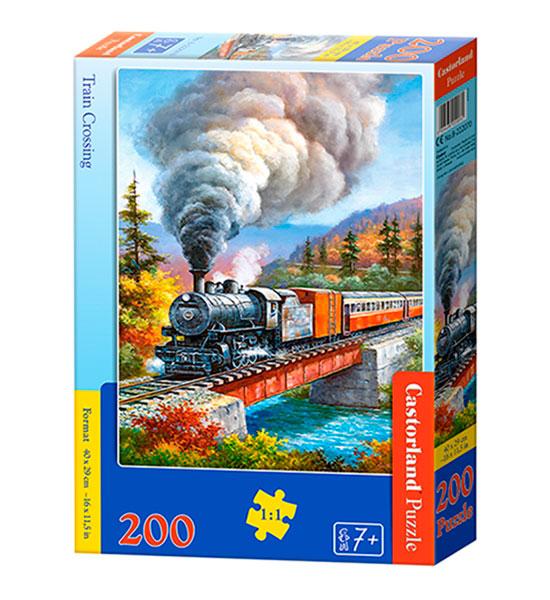 Puzzle Castorland Cruce de Tren de 200 Piezas
