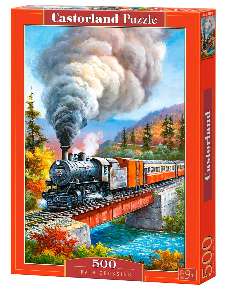 Puzzle Castorland Cruce de Tren de 500 Piezas