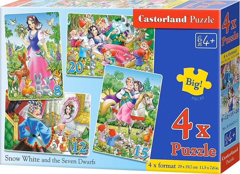 Puzzle Castorland Cuento de Blancanieves 8+12+15+20