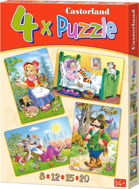 Puzzle Castorland Cuento de Caperucita Roja 8+12+15+20