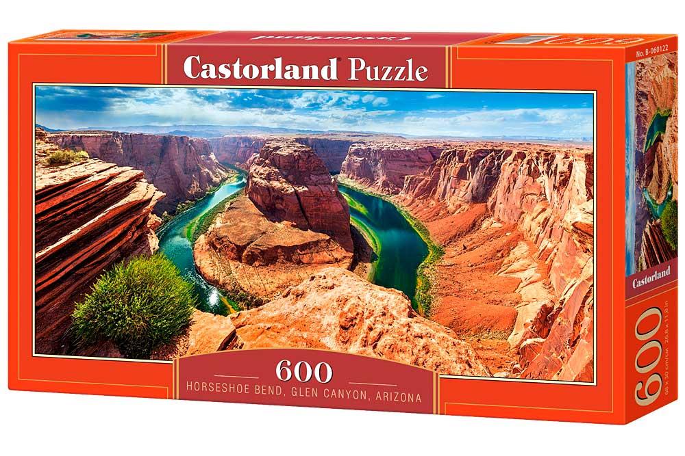 Puzzle Castorland Curva Herradura, Cañón en Arizona, 600 Piezas