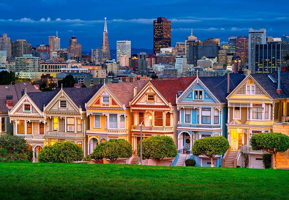 Puzzle Castorland Damas Pintadas, San Francisco, 1000 Piezas