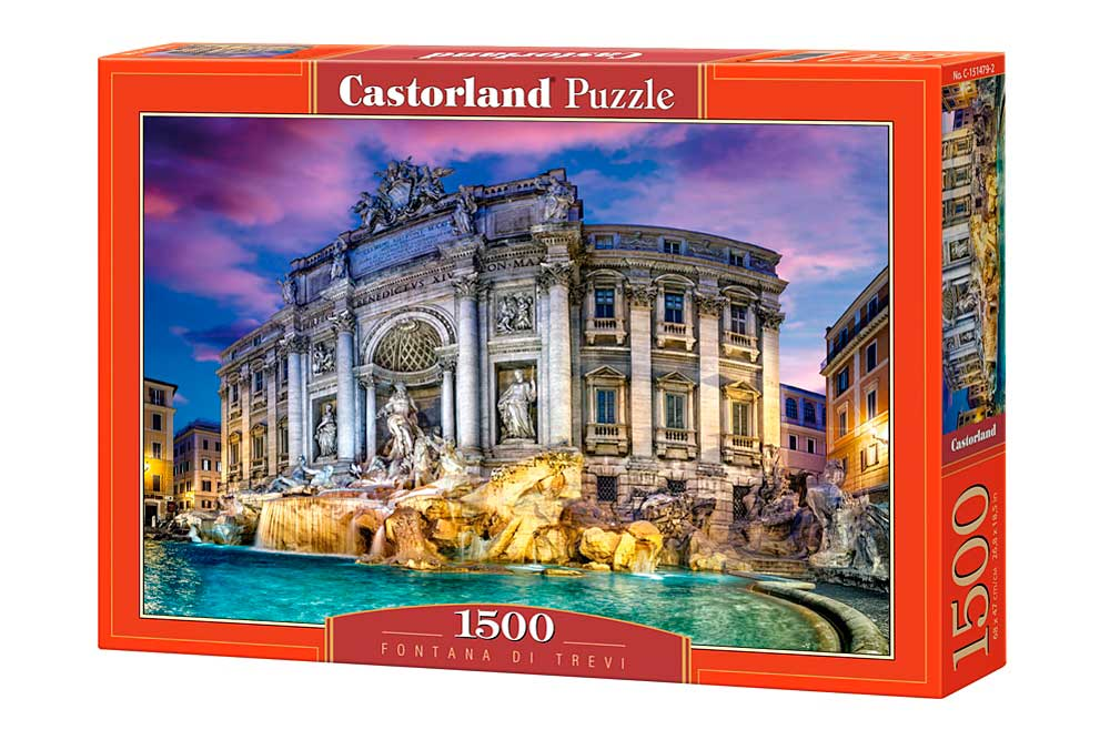 Puzzle Castorland Dentro de la Fontana de Trevi 1500 Piezas