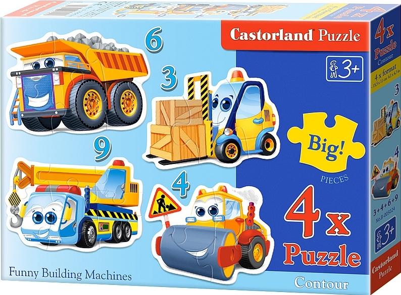 Puzzle Castorland Divertidas Máquinas de Construcción